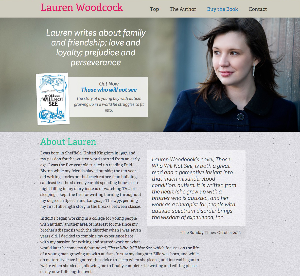 Lauren Woodcock - {project_text_summary}